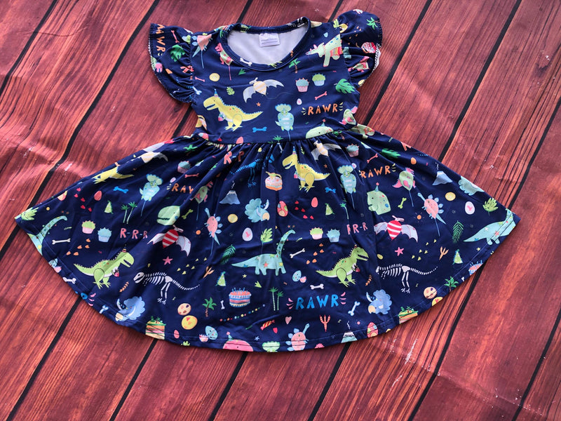 DINO TWIRL DRESS - 2ND PREORDER