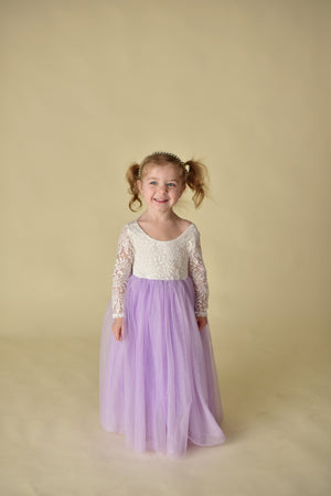 PARIS TULLE MAXI DRESS - LAVENDER