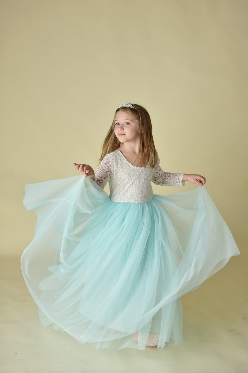 PARIS TULLE MAXI DRESS - MINT