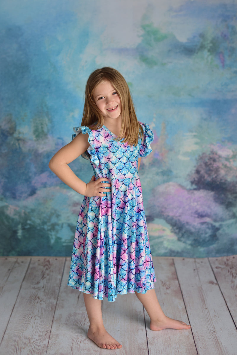 MERMAID TWIRL DRESS - PREORDER
