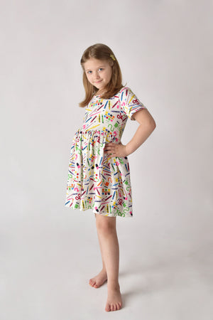 CRAYONS DRESS