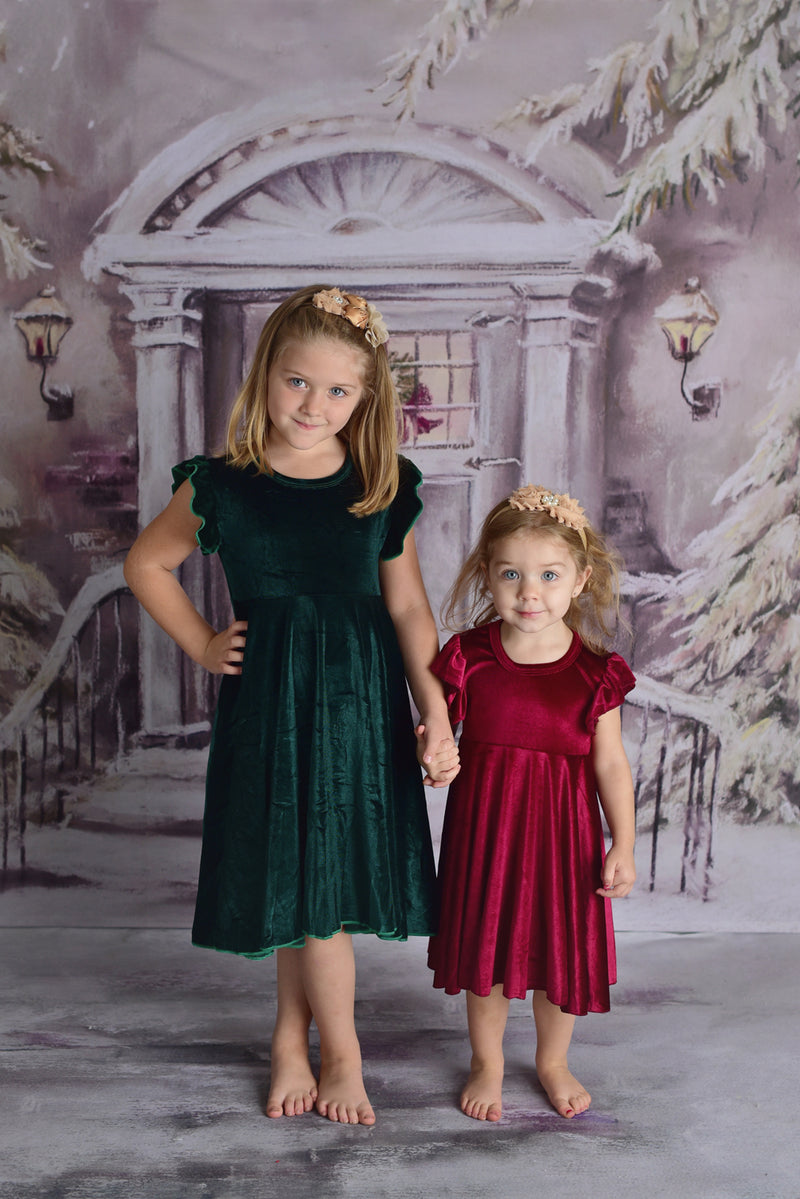 SHELBY VELVET TWIRLY DRESS - 2 COLORS