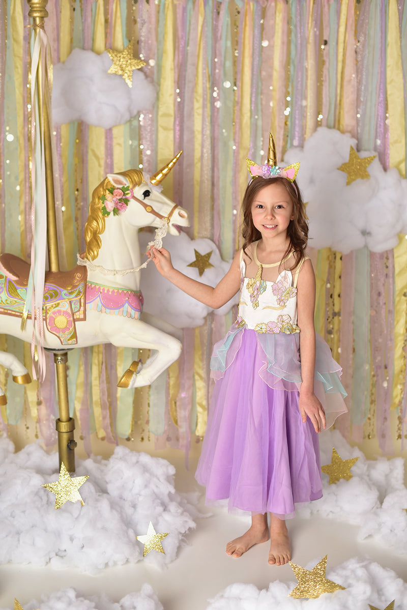 UNICORN BIRTHDAY DRESS - LAVENDER