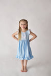 ONCE UPON A TIME TWIRLY DRESS - bLUE