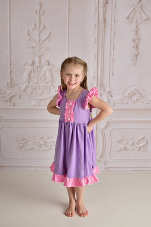 ONCE UPON A TIME TWIRLY DRESS - PINK/PURPLE