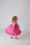 ONCE UPON A TIME TWIRLY DRESS -PINK POLKA DOTS