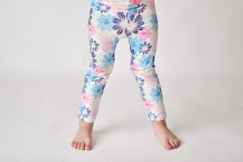 SPRING FLORAL MILK SILK LEGGINGS