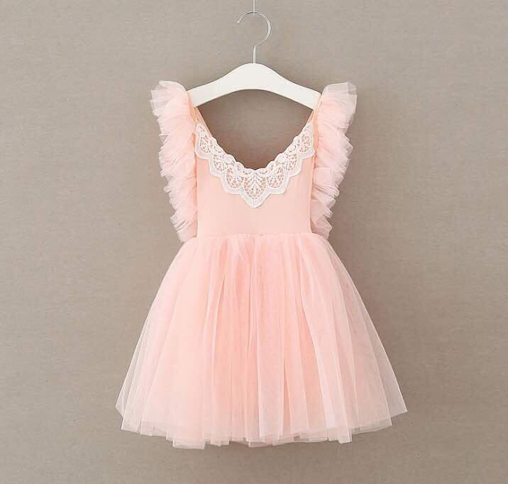 EMILY TULLE DRESS - PEACH