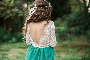 AURORA LACE RUFFLE MAXI DRESS