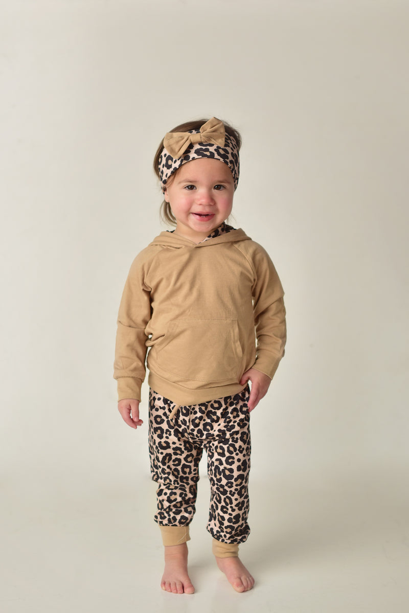 ANIMAL PRINT BABY HOODIE SETS & HEADBAND