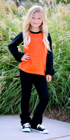RAGLAN ICINGS - BLACK/ORANGE