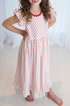 SALLY VALENTINE NIGHTGOWN - WHITE