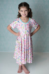 UNDER THE SEA TWIRLY DRESS WITH POCKETS