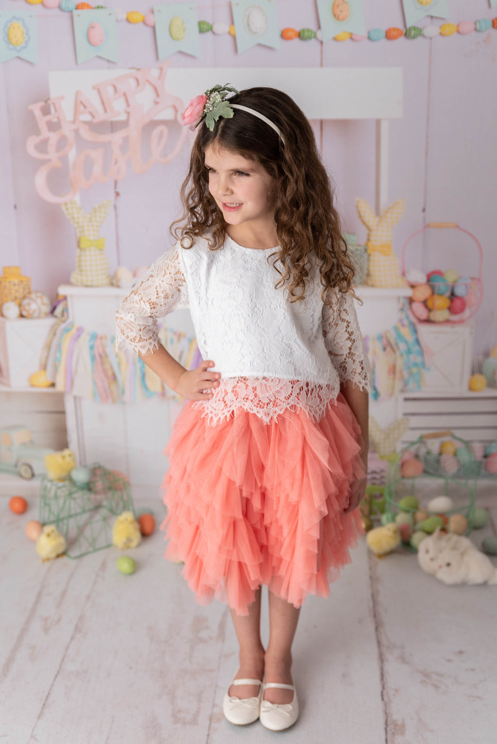 AURORA TOP AND RUFFLE SKIRT SET
