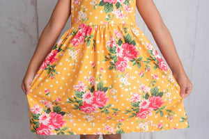 GRACE FLORAL MILK SILK DRESS