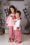RUDOLPH PJS RED/WHITE
