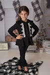 BELLA ZIP HOODED CARDIGAN - BLACK