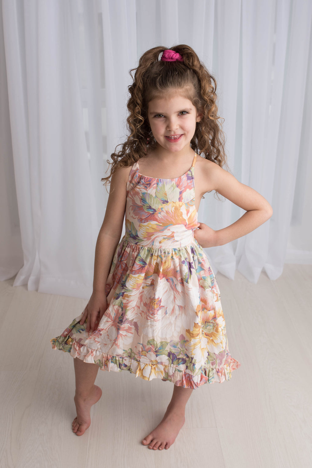 SPRING MEADOW HI LO DRESS M1