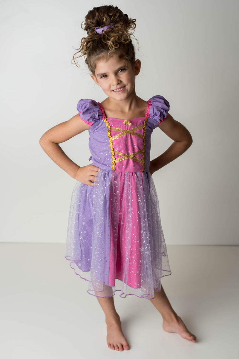 PRINCESS COLLECTION - PRINCESS SPARKLE DRESS PURPLE/PINK - PRESALE