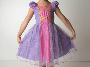 PRINCESS COLLECTION - PRINCESS SPARKLE DRESS PURPLE/PINK