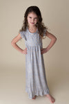 MOON & STAR NIGHTGOWN- LIGHT GREY - PREORDER