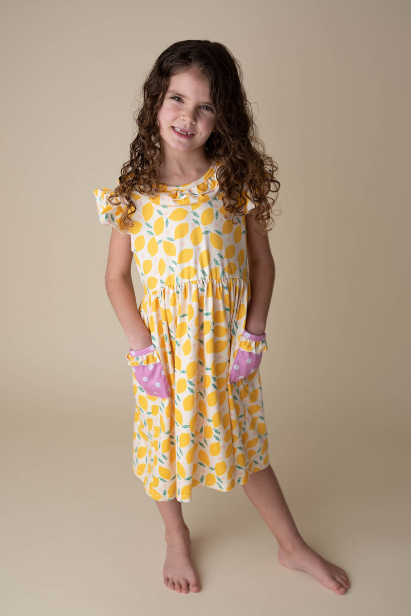LEMONADE DRESS WITH POCKETS