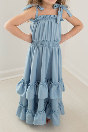 KIMBERLY RUFFLE MAXI DRESS