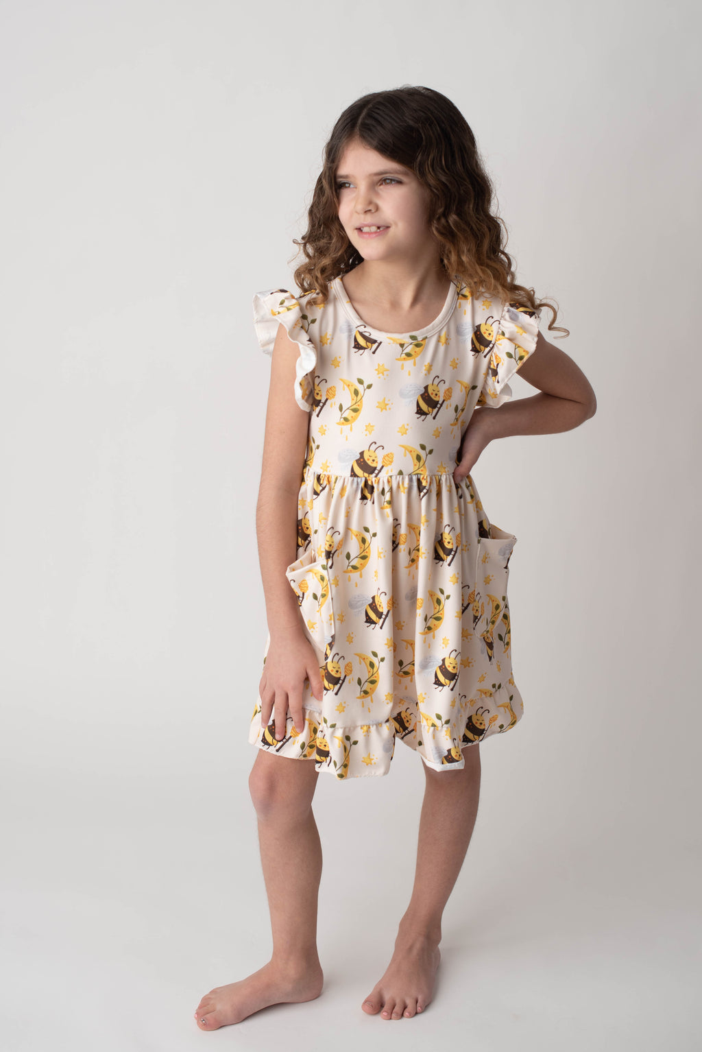 HONEY BEE TWIRL DRESS WITH POCKETS