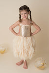 AURORA GOLD SPARKLE DRESS