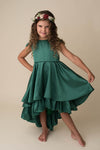 MONROE HI LO DRESS - GREEN