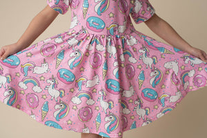 CAT UNICORN TWIRL DRESS