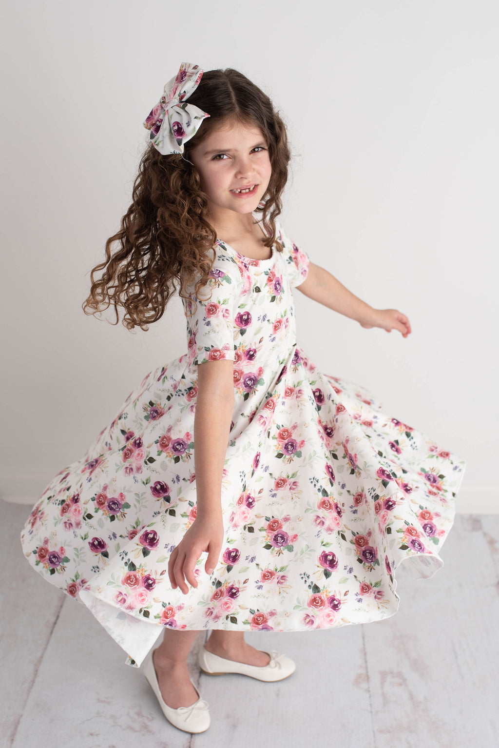 ANGELINA FLORAL TWIRLY DRESS