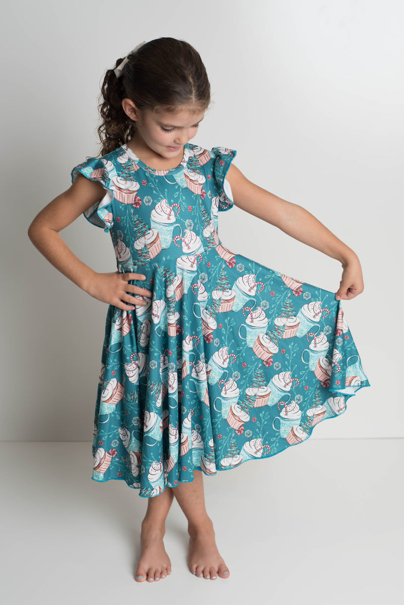 PEPPER MINT TWIRL DRESS
