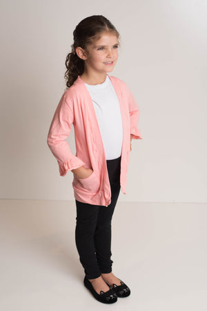 CARDIGAN WITH POCKETS  - PINK