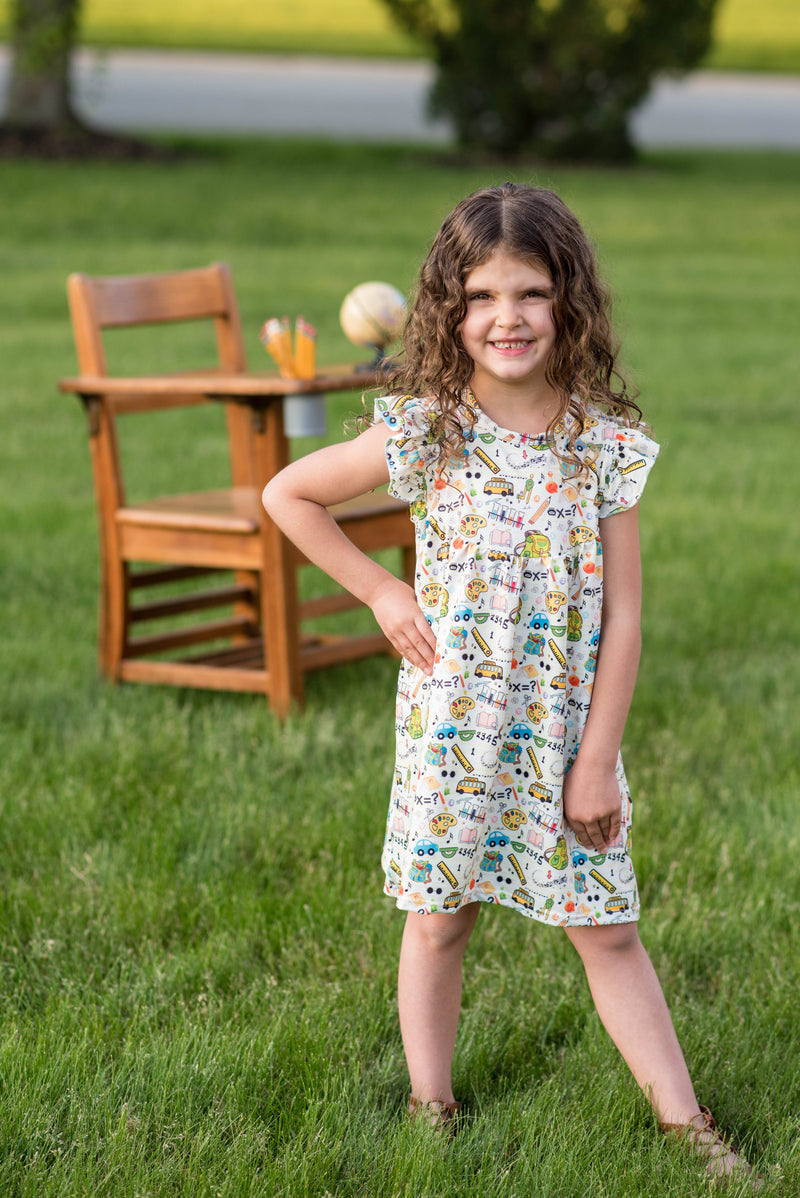 BACK TO SCHOOL PEARL DRESS