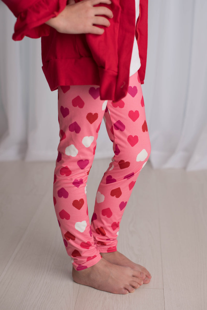 VALENTINE HEARTS MILK SILK LEGGING