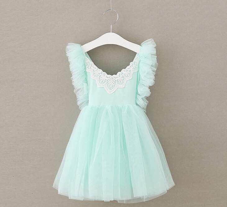 EMILY TULLE DRESS - MINT