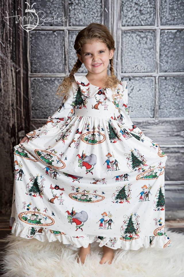 GRINCH NIGHTGOWN - MILK SILK -
