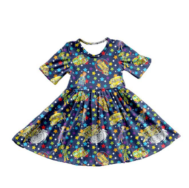 SCHOOL BUS TWIRL DRESS - PREORDER
