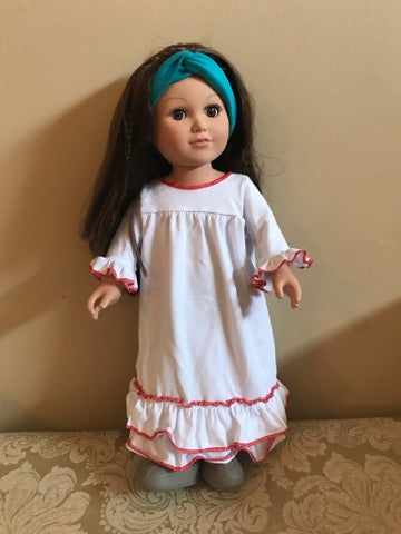 SNOW NIGHTGOWN - DOLL