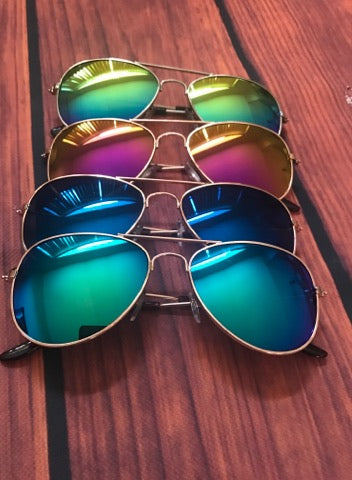 KIDS AVIATOR MIRROR SUNGLASSES