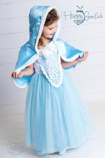 PRINCESS COLLECTION - GLASS SLIPPER PRINCESS DRESS WITH CAPE - PRESALE