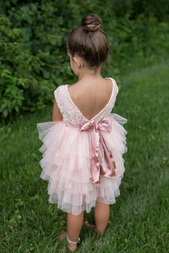 ALYSSA TULLES AND RUFFLES DRESS