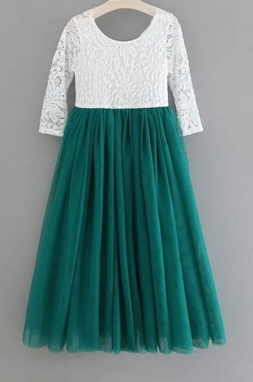 PARIS TULLE MAXI DRESS - EMERALD