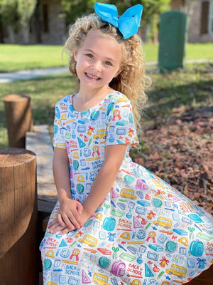 BACK TO SCHOOL TWIRL DRESS