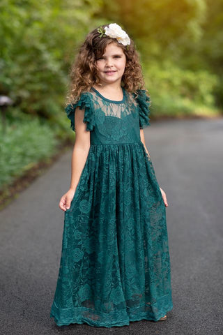 PENELOPE LACE MAXI DRESS- JADE - PREORDER