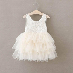 IVORY LACE AND TULLE DRESS