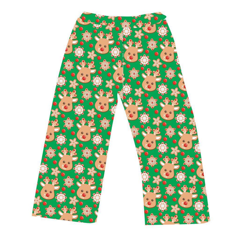 LADIES PJ BOTTOMS CHRISTMAS COOKIES  GREEN