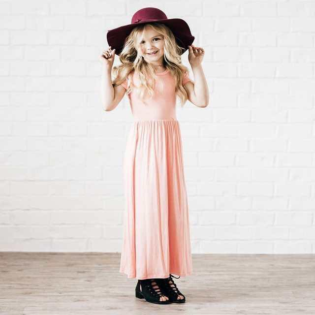 PINK MAXI DRESS WITH POCKETS D1