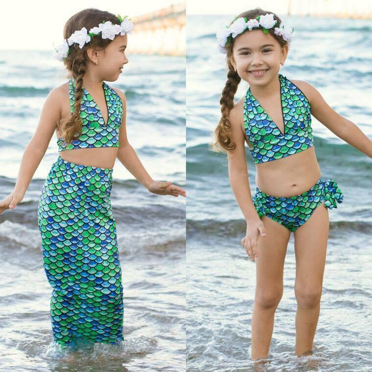 MERMAID 3PC SWIMSUIT